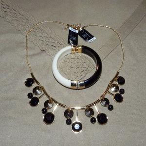 NWT $64 INC Necklace/Choker + Cuff Bracelet Bundle
